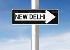Realistic Graphic DOWNLOAD (.ai, .psd) :: http://vector-graphic.de/pinterest-itmid-1006757380i.html ... This Way to New Delhi  ...  New Delhi, arrow, asia, asian, blue, capital, city, concept, conceptual, direction, india, one way, one way sign, one way street, road sign, sign, sky, this way  ... Realistic Photo Graphic Print Obejct Business Web Elements Illustration Design Templates ... DOWNLOAD :: http://vector-graphic.de/pinterest-itmid-1006757380i.html