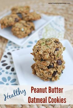@LeanGrnBeanBlog Healthy Peanut Butter Oatmeal Cookies by @The Lean Green Bean #FitFluential
