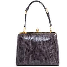Dolce & Gabbana Python structured bag ($2,935) found on Polyvore