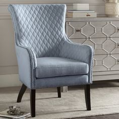 A diamond tufted design makes this Madison Park Lea accent chair a must-have to complement your home's chic style. Sofa Design, Furniture Design, Living Room Chairs, Living Room Furniture, Living Room Decor, Wingback Chair, Armchair, Swivel Chair, Accent Chairs For Sale