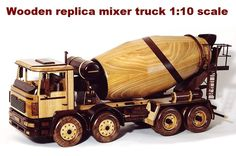 Dřevěný model vozidla - beton mixer Tatra ze dřeva. You can order at info@soly.cz ask Mr. Radek