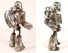 Quand on parle de robot, on s'imagine des trucs futuristes en métal brossé avec des rayons laser et des fonctions de dingue qui vont révolutionner notre monde. Le sculpteur Mike Rivamonte n'est appare