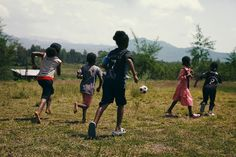 Girls from the SOS village in Jima playing football.