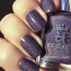 a England's Lady of the Lake — a gorgeous purple holographic polish.