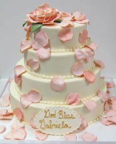 First communion cake from scrumptions.com!  #communion #pink #religious