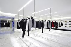 Saint Laurent's largest flagship store opens up at Avenue Montaigne, Paris Ysl Store, Paris Store, Saint Laurent Store, Yves Saint Laurent Paris, Bergdorf Goodman, Visual Merchandising, Luxury Store, Shops, Store Interiors