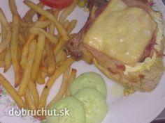 Fotorecept: Bravčové karé so šunkou a syrom Chicken, Meat, Food, Cooking, Eten, Meals, Cubs, Kai, Diet