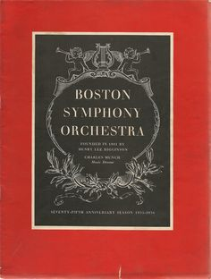 Boston Symphony Orchestra, 75th Anniversary Season,  1955-1956, program