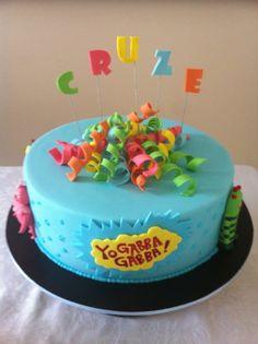 Yo Gabba Gabba Cake. Simple but super cute