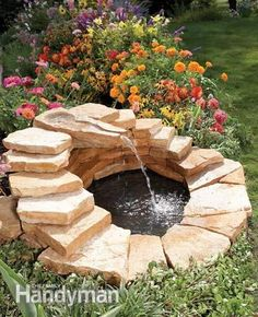 40+ Creative DIY Water Features For Your Garden --> How to Build a Concrete…