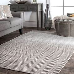 Shop for nuLOOM Handmade Flatweave Herringbone Chevron Cotton Rug (8' x 10'). Get free shipping at Overstock.com - Your Online Home Decor Outlet Store! Get 5% in rewards with Club O! - 14359497