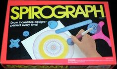 "Spirograph was always a favorite of mine growing up. In fact, my brother bought me a mini-set just a couple of years ago for Christmas along with a t-shirt saying ""I stink at Spirograph!"" lol"