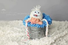 Bumble the Abominable Snow Monster newborn hat photography prop Rudolph the Red Nosed Reindeer zellashop