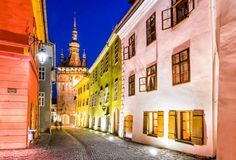 Sighișoara, Romania - Located in the historic region of Transylvania, the town has preserved the features of a medieval-era fortified city beautifully. The main attractions of this craftsmen's town include pastel-colored buildings, stony lanes and medieval towers.   -Emicristea/Getty Images