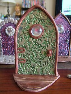 Daniel and I made these Fairy Doors and they are really cute and easy.  We want to make a bunch and put them on trees in the woods for our fairy wonderland.