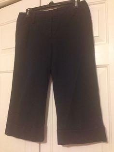 Ann Taylor size 4 wide leg cuffed capris. Like new. $20 shipped
