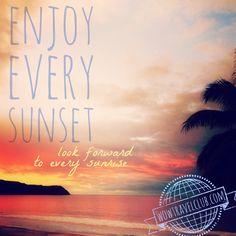 "Travel Quote - ""Enjoy every sunset..."" Riviera Nayarit, Mexico - Photo by Whitney Merritt, November 2014"