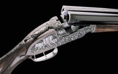 Purdey - side by side 12 bore shotgun. Amazing craftmanship.