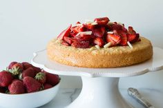 Gluten-Free Almond Cake with Strawberries | What's Gaby Cooking