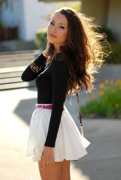 Cute Fashion, Look Fashion, Skirt Fashion, Womens Fashion, Street Fashion, Latest Fashion, Fashion Dresses, Fashion Trends, Skirt Outfits