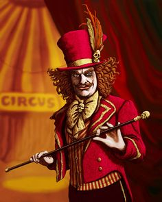 Ringmaster by Malcolm Brown - Photoshop Creative Creepy Circus, Halloween Circus, Circus Clown, Creepy Clown, Halloween 2019, Halloween Costumes, Dark Circus, Circus Art, Circus Theme