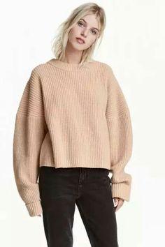 #oversize #top #beige #confort #hm