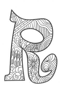 The super original mandaletras learn the alphabet - Educational Images Easy Coloring Pages, Coloring Pages For Girls, Coloring Pages To Print, Coloring Letters, Alphabet Coloring Pages, Coloring Worksheets, Alphabet Letter Crafts, Alphabet And Numbers, Ladybug Coloring Page