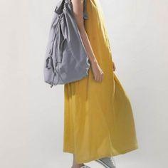 NYLA Linen Backpack – لینوم | لباس لینن | لباس الیاف طبیعی | لینن استایل Midi Skirt, Raincoat, Skirts, Nature, Jackets, Clothes, Dresses, Fashion, Rain Jacket