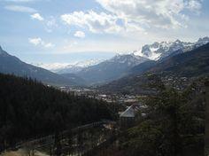 panorama sud della città di Briançon