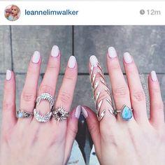 """We are loving the beautiful @leannelimwalker wearing our huge tear drop moonstone ring in sterling silver #silver #gypsy #gyspysoul #gypsyrings #jewellery…"""