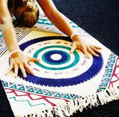 Mandala Printed Yoga Rug by La Vie Boheme Yoga available for pre-order now