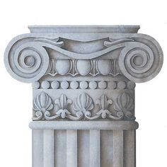Ionic Capital Trompe L'oeil Wall Mural Stencil includes instructions for creating a fluted column with tape. Our Classic Column Base Trompe L'oeil Stencil, was designed to pair perfectly with this wal