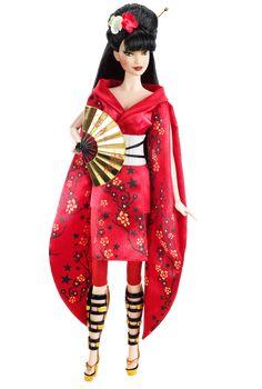 Japan Barbie® Doll Pink Label® Designed by: Linda Kyaw Release Date: 11/18/2010 Product Code: V5004
