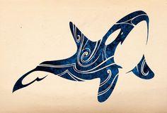 Tribal Orca 2015 by Takihisa on DeviantArt Orca Tattoo, Whale Tattoos, Killer Whale Tattoo, Haida Tattoo, Arte Haida, Haida Art, Tatoo Art, Body Art Tattoos, Orcas