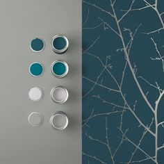 Metallic highlights delicately lay upon a beautiful, rich teal textured paper creating an opulent, luxurious feel. Bedroom Wallpaper Accent Wall, Teal Accent Walls, Accent Wall Colors, Accent Walls In Living Room, Teal Walls, Living Room Color Schemes, Home Wallpaper, Colour Schemes, Teal Wallpaper Living Room