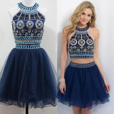 Compare Prices on Navy Blue Halter Cocktail Dress- Online Shopping ...
