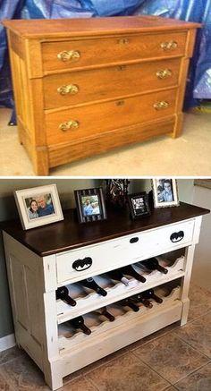 Vous n'aimez pas jeter? Cet article est pour vous! Si depuis des années vous avez entreposé quelques vieux meubles dans votre garage, sachez qu'il est grand temps de les ressortir! En effet, grâce à un peu d'huile de coude, vous allez enfin pouvoir leur donner une seconde vie. Nous allons vous présenter 15 personnes qui ont fait preuve de créativité en reconditionnant leurs vieux meubles inutilisés pour donner vie...