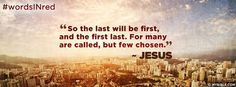 Matthew 20:16 NKJV - The Last Will Be First, And The First Last - Facebook Cover Photo