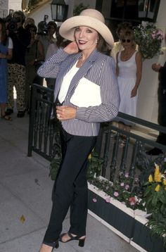 Joan Collins during Benefit for Looking Glass Theater May 31 1997 at Chasen's Restaurant in Beverly Hills California United States