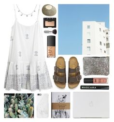 """Juliet Dunn"" by sophiehackett ❤ liked on Polyvore featuring Juliet Dunn, Birkenstock, London Road, Native Union, NARS Cosmetics and esum"