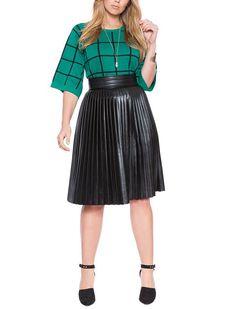 Black Skirt Outfits, Short Outfits, Plus Size Shopping, Shopping Sites, Plus Size Skirts, Faux Leather Skirt, Fall Looks, Plus Size Fashion, Fashion Beauty