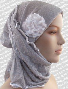 Turban Hijab - Midnight - Silver