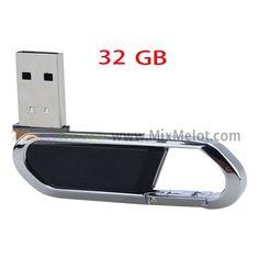 32GB USB 2.0 U Disk/Driver/Flash Disk of Key Ring Shape-Black
