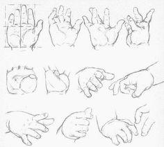 Exemples de mains d'enfants