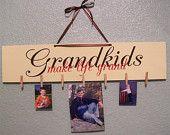 Grandkids make life grand  sign wood sign