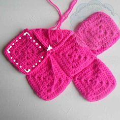 7 Granny Square Birdie Slippers Guest Post Joanita Theron Creative Crochet Workshop