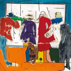 The friendship and the shadow of betrayal The friendship and the shadow of betrayal - R. Kitaj Artist: R. Rose Wylie, James Rosenquist, Claes Oldenburg, Jasper Johns, Jewish Art, Art Database, Andy Warhol, American Artists, Pop Art