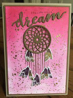 Eine tolle Karte inspiriert von Steffi Helmschrott von Stempelwiese Stampin Up Karten, Stampin Up Cards, Hopes And Dreams, Mothers Day Cards, Dream Catchers, Halloween Cards, Stamping Up, Fathers, Cardmaking
