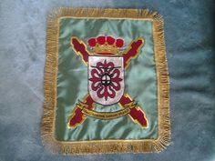 Banderín para obsequio con el escudo de la base de helicópteros de Almagro.