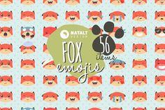 Fox Emojis by NatAlt Design on @creativemarket